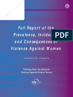 Full Report of the Prevalence, Incidence, and Consequences of Violence Against Women