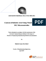 Control of Robotic Arm Using Visual Basic and Pic Microcontroller - TJ211.K42 2007 - Khairul Anuar b. Juhari