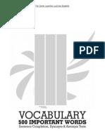 Vocab list