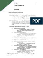 Tiu Outline - Tax 1