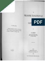 Martial Gueroult - La Philosophie Transcendentale de Salomon Maimon