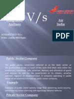 Kingfisher vs Air India