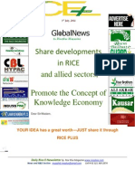 3rd July,2014 Dail Exclusive ORYZA E-Newsletter by Riceplus Magazine