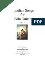 [Coletânea] Mauro Henrique Pavanelli - Brazilian Songs for Solo Guitar Vol.I