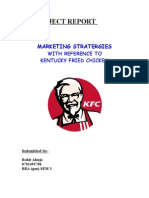 kfc project on market research