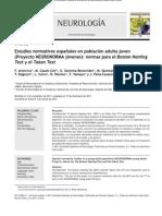 Estudios normativos españoles en población adulta joven (Proyecto NEURONORMA jóvenes)