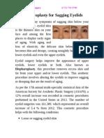 Blepharoplasty for Sagging Eyelids