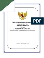 Permenhub Standar Hargaatuan NO 75 2013