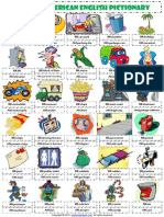 British American English Pictionary 1 Worksheet