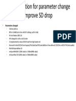 Recommendation for Parameter Change to Improve SD Drop