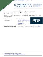 Biomimetics for Next Generation Materials