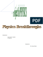 Breakthroughs in Physics