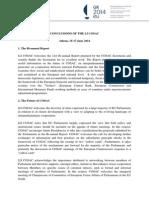 Conclusions LI COSAC