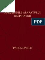 Pneumonii Pleurezii Pneumotorax Cancer