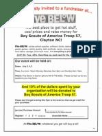Troop 57 Five Below Fundraiser Flyer July 2014