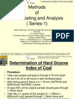Coal Testing and Analysis Methods