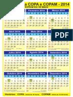 Calendário Do COPAM 2014
