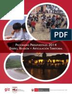 34408032-Programas Presupuestales 2014 Diseno Revision y Articulacion Territorial