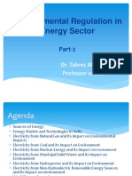Part-2 Lecture Environmental Regulation in Energy Sector