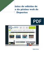 Guía Básica de Edición de Contidos Da Páxina Web de Deportes