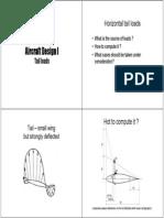 Air Craft Design Tail Loads