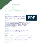 Questionslist Q&A session 10-01-2009