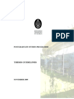 UTP+Thesis+guidelines 2009