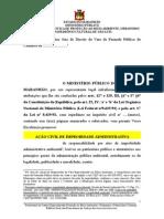 Acao Civil de Improbidade Ambiental. Ausencia de PMGIRS.
