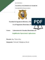 Informe Final N°07 Amplificador Operacional Aplicaciones