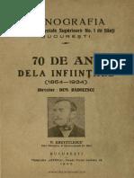 Monografia Scoale Comerciale de Baeti, 1864-1934