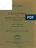 D. Furnica, Calatoria Lui Zenovie Hagi Constandin Pop La Paris Si Londra in 1826-1827, Bucuresti, 1930