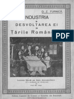 Industria Si Dezvoltarea Ei in Tarile Romane, D. Furnica 1926