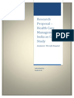 Research Proposal - Health Care