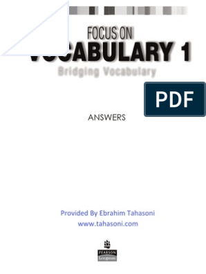 focus on vocabulary 2 pdf