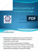 Mathematical Modeling of Suspension Bridge