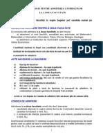 Metodologie Pentru Admiterea Candidatilor La a Doua Facultate 2014