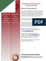 2014-2015 - UTSC Rotaract Executive Application Form