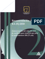 Recomendacion Amaac Ra05-2010
