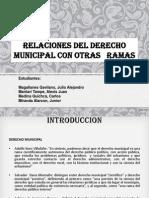 Relaciones Del Derecho Municipal Con Otras Ramas