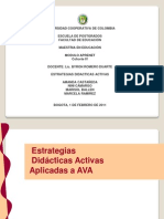 Estrategia s Didactic as Activ As