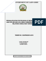 PRE-QUALIFICATION FOR PROVISION OF MEDIA MONITORING ANALYSIS AND ANAYLSIS, MEDIA COMMUNICATION, PUBLIC RELATIONS CONSULTANCY SERVICES