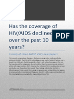 Has the Coverage of HIV/AIDS Declined in the Past 10 Years?