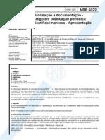 ABNT NBR 6022 200304 Artigo Periodico Cientifico
