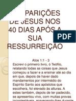 As Aparições de Jesus Nos 40 Dias Após Sua Ressurreição