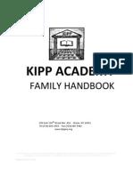 2009-10 KIPP Academy Middle Family Handbook