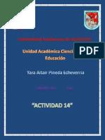 Actividad 14 Yara Altair Pineda Echeverría