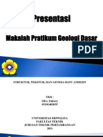 Presentasi Geologi Dasar Silvy Zahara