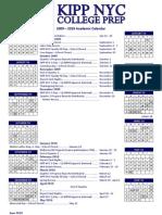 2009-10 KIPP NYC College Prep Academic Calendar