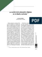 La Función de La Educación Religiosa en El Diseño Curricular