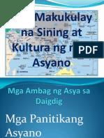 Ang Makukulay Na Sining at Kultura Ng Mga